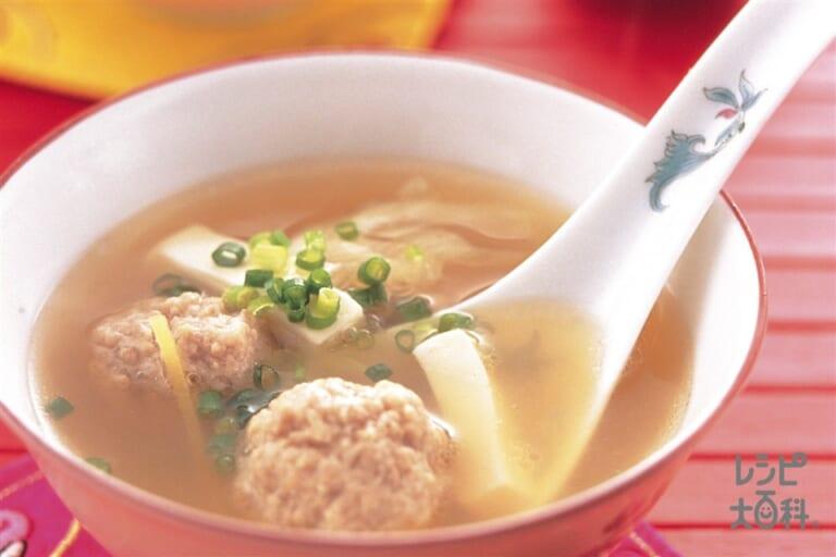 豆腐と肉だんごのスープ