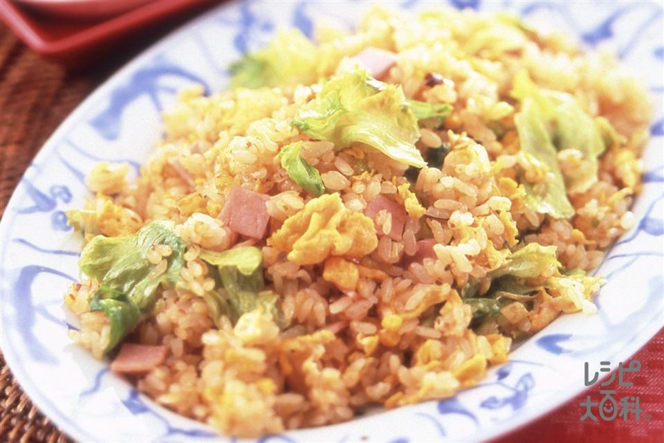 しゃきしゃきレタスの炒飯(ご飯+レタスを使ったレシピ)