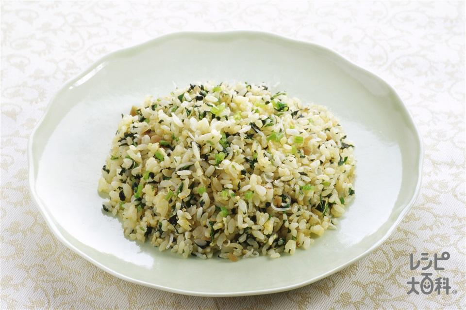 翡翠チャーハン(ご飯+ほうれん草を使ったレシピ)
