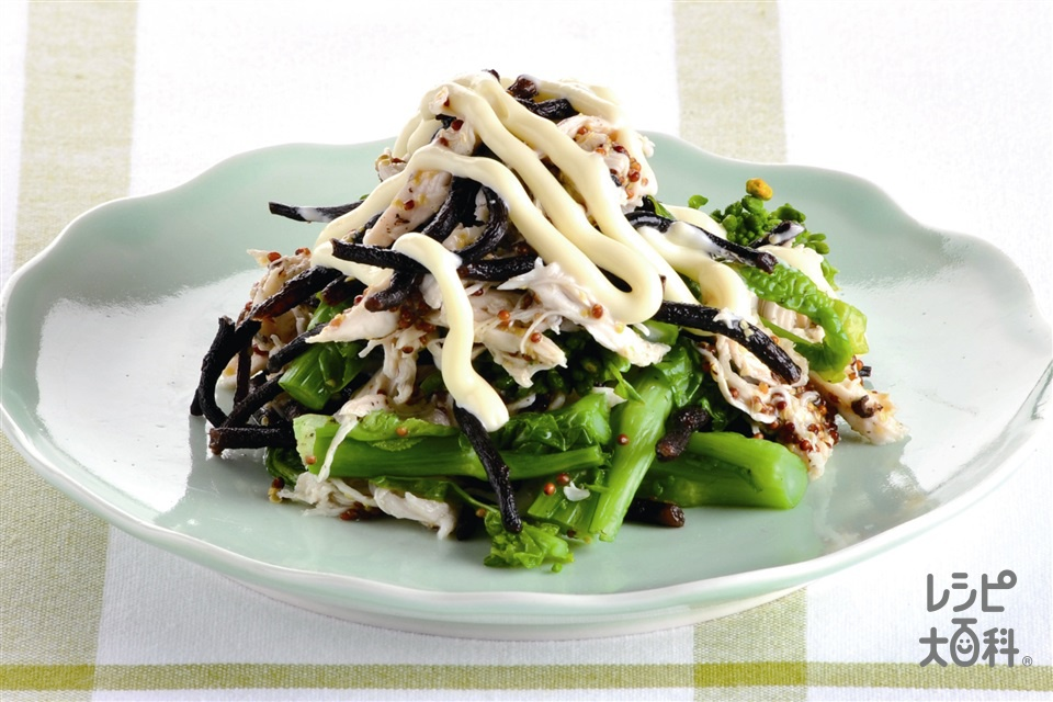菜の花と鶏ささ身のマヨサラダ(菜の花+鶏ささ身を使ったレシピ)