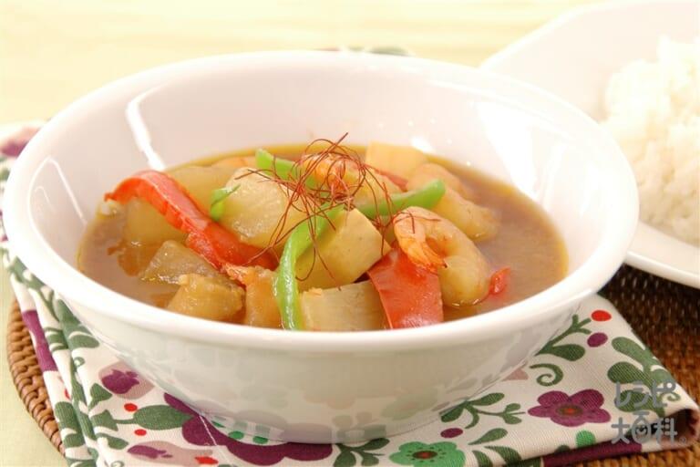 大根とえびのスープカレー