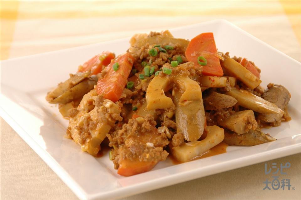 ごろごろ根菜マヨ麻婆(豚ひき肉+ごぼうを使ったレシピ)