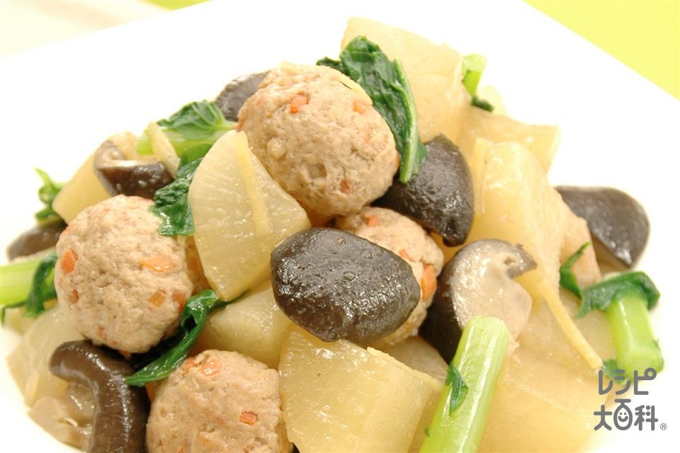大根と肉だんごの中華煮込み(大根+豚ひき肉を使ったレシピ)
