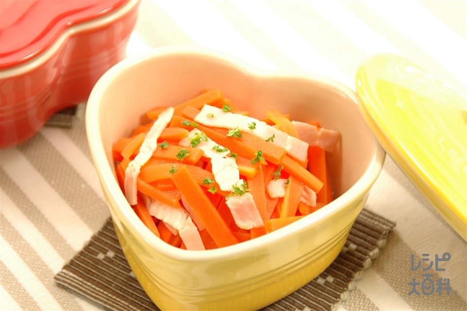 にんじんとベーコンのサッと煮(にんじん+ベーコンを使ったレシピ)