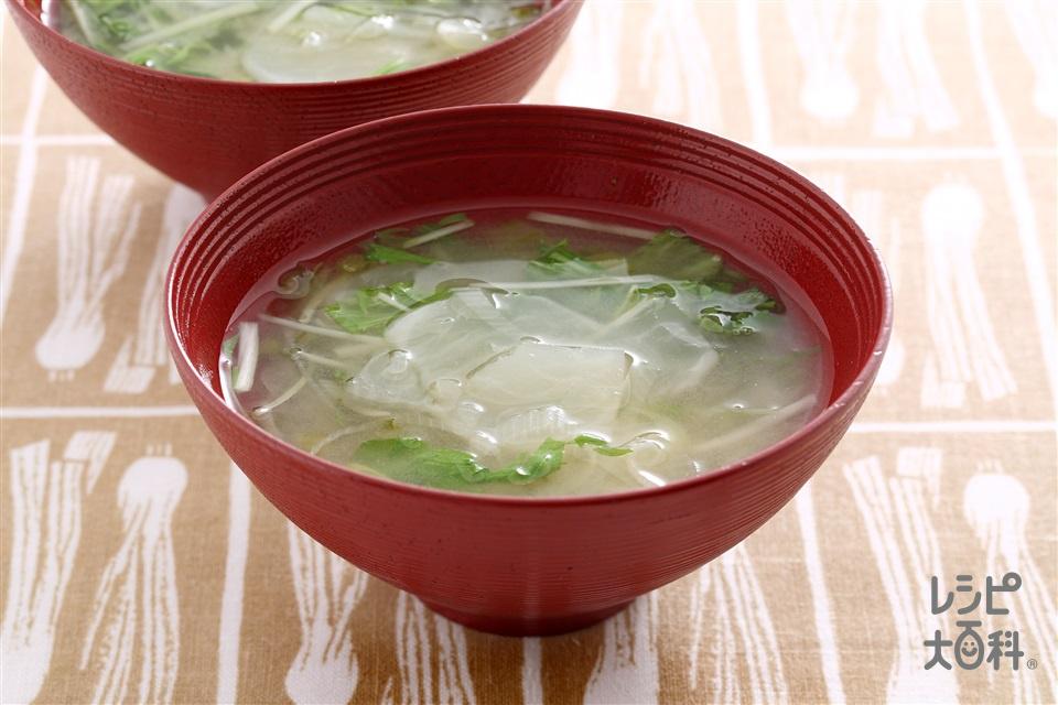 水菜とかぶのみそ汁