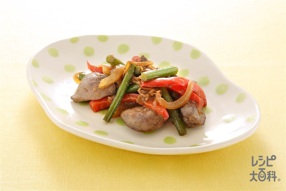 茎にんにくとレバーの炒めもの (鶏レバー+茎にんにくを使ったレシピ)