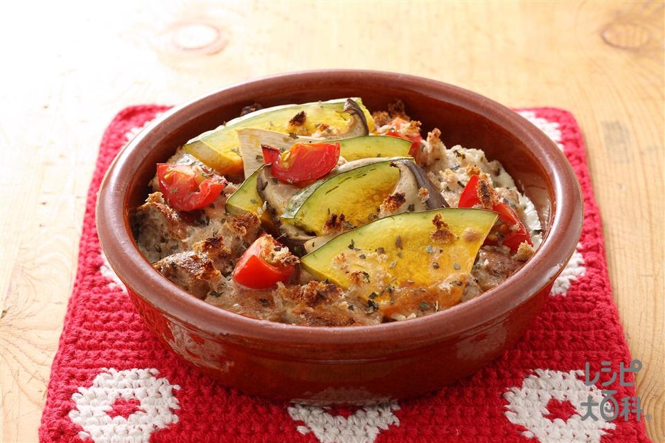 豆乳ソースのパングラタン(ライ麦パン+豆乳を使ったレシピ)