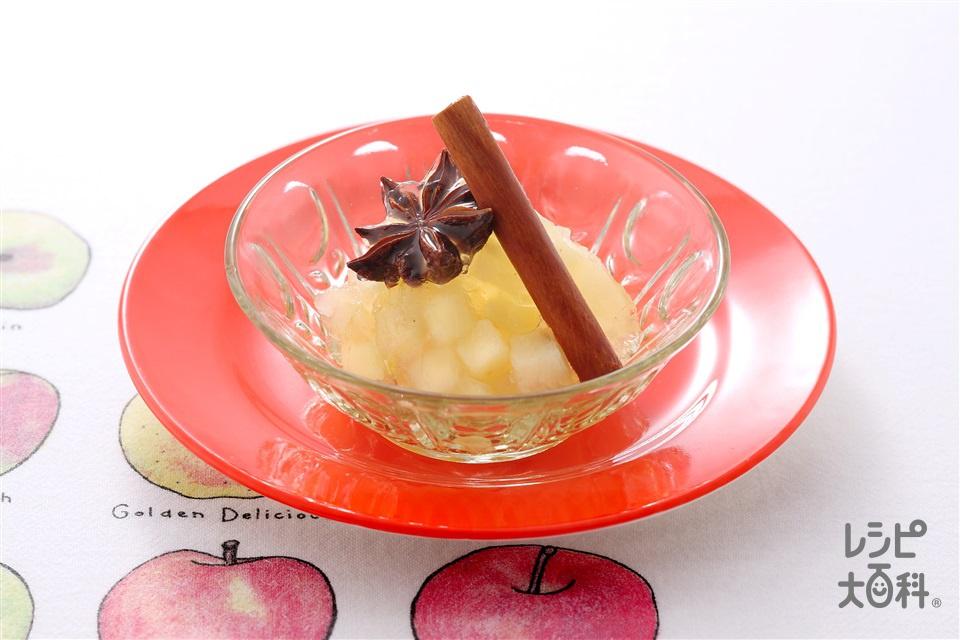 スパイシーハニーアップルゼリー(りんご+レモン汁を使ったレシピ)