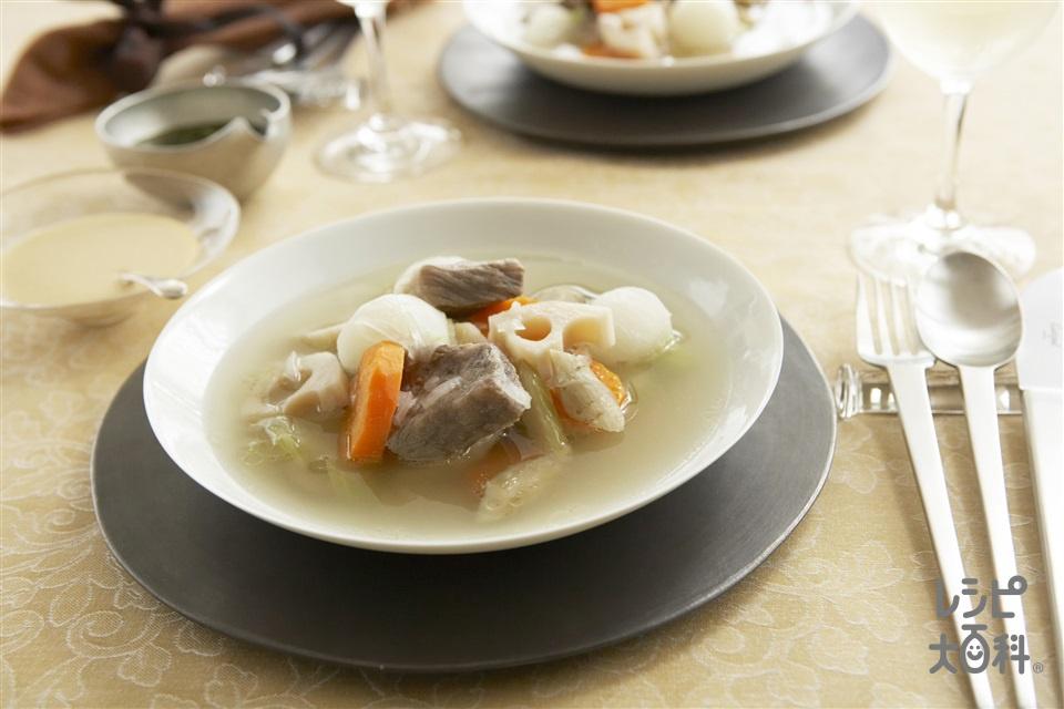 和風ポトフ(牛肩ロース肉+にんじんを使ったレシピ)