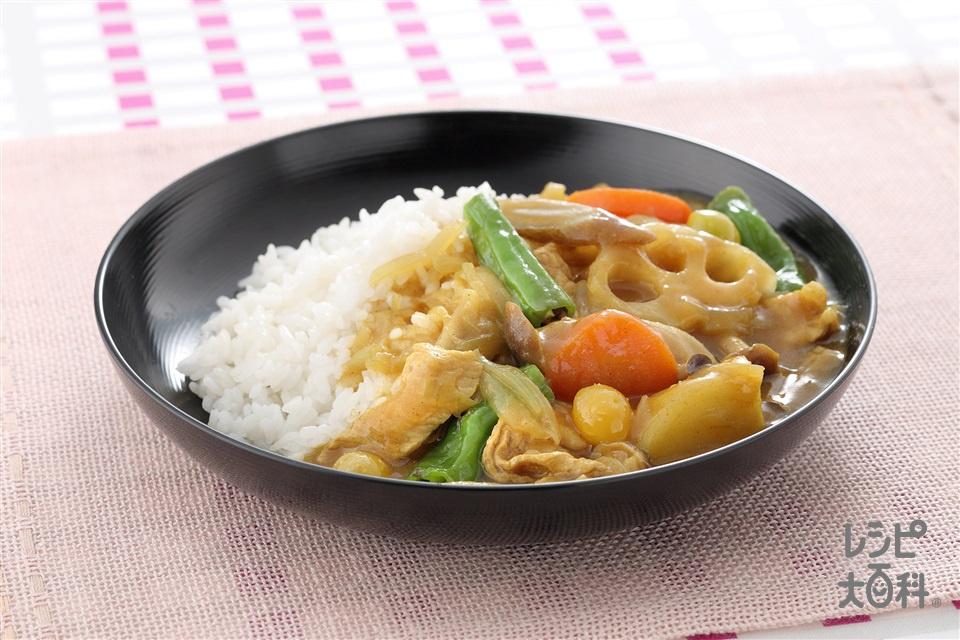 和風根菜カレー(じゃがいも+ご飯を使ったレシピ)