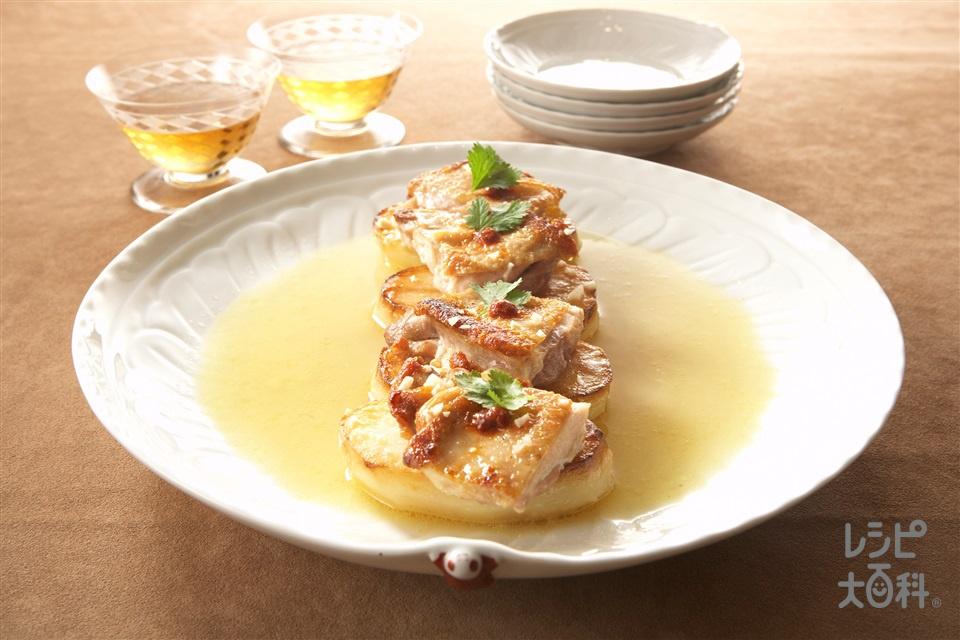 じゃがいもと鶏肉の煎り焼き(鶏もも肉+じゃがいもを使ったレシピ)