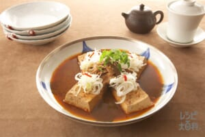 豆腐と豚ばら肉のピリ辛煮込み