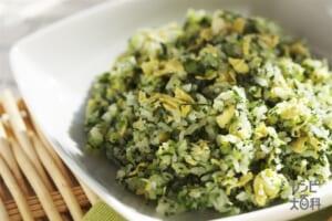 小松菜と卵のチャーハン