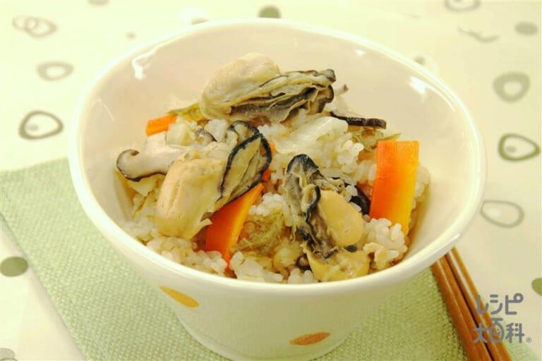 白菜とかきの炊き込みご飯