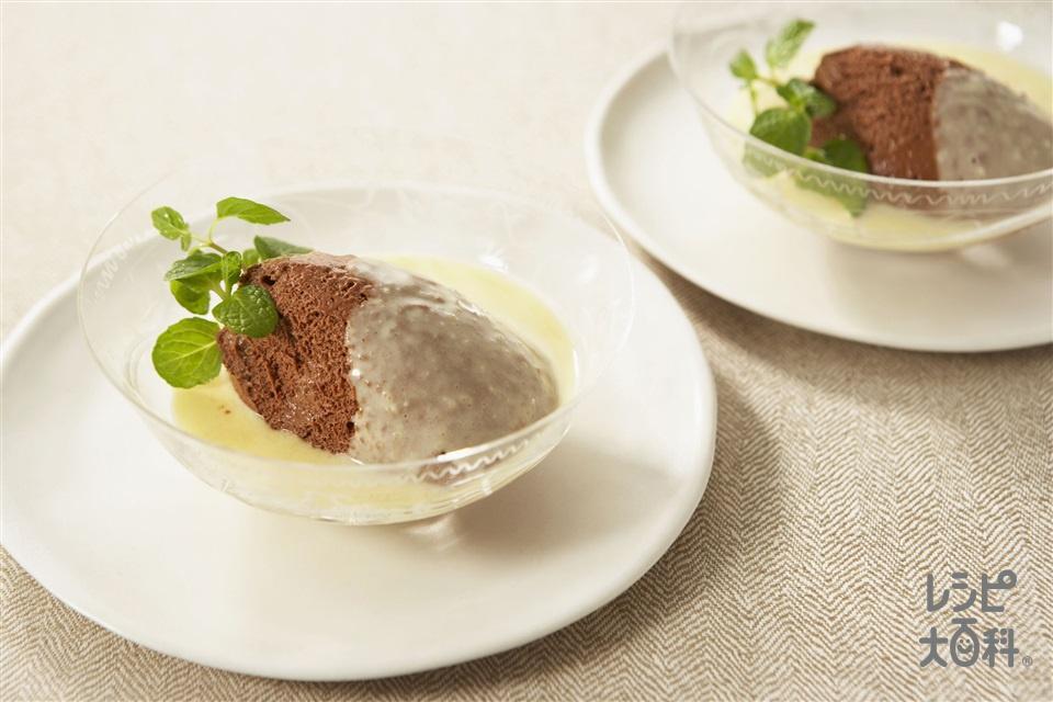 チョコレートムース(チョコレート+牛乳を使ったレシピ)