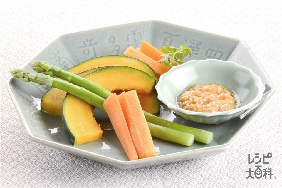 ディップサラダ オイマヨソース(にんじん+グリーンアスパラガスを使ったレシピ)