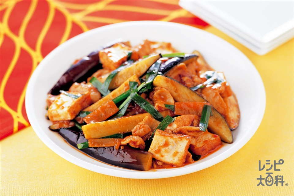 なすと豚肉のスタミナ炒め(なす+豚バラ薄切り肉を使ったレシピ)