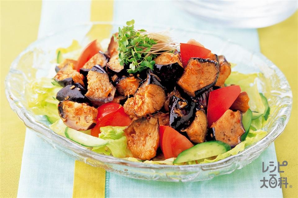 揚げなすとトマトのサラダ(なす+きゅうりを使ったレシピ)