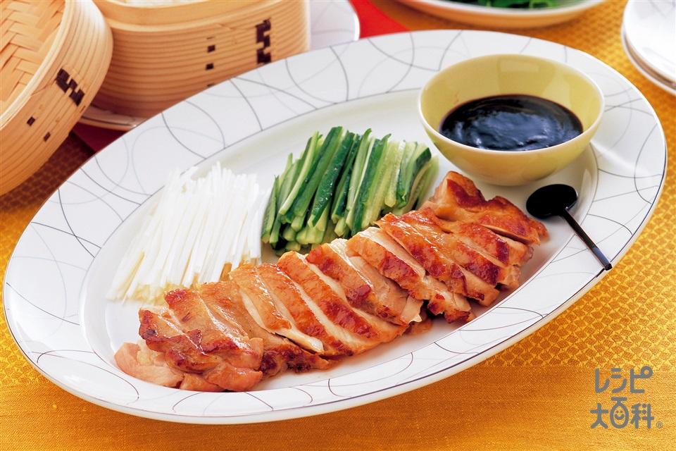 鶏肉の北京ダック風(鶏もも肉+Aしょうゆを使ったレシピ)