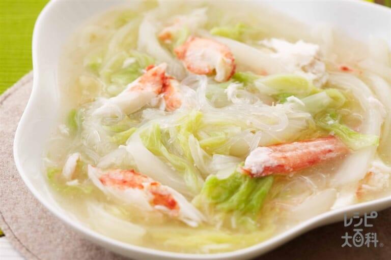 白菜とかにの中華風炒め煮物