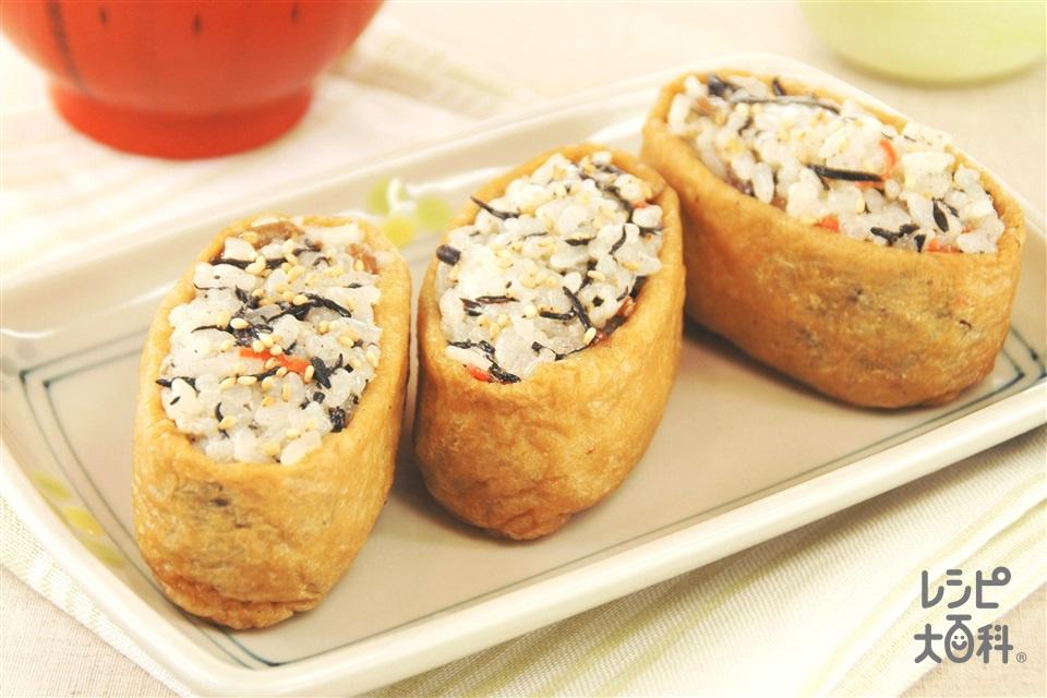 マヨいなり(油揚げ+ご飯を使ったレシピ)