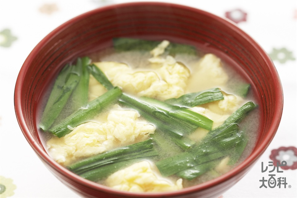 にら玉汁(にら+卵を使ったレシピ)