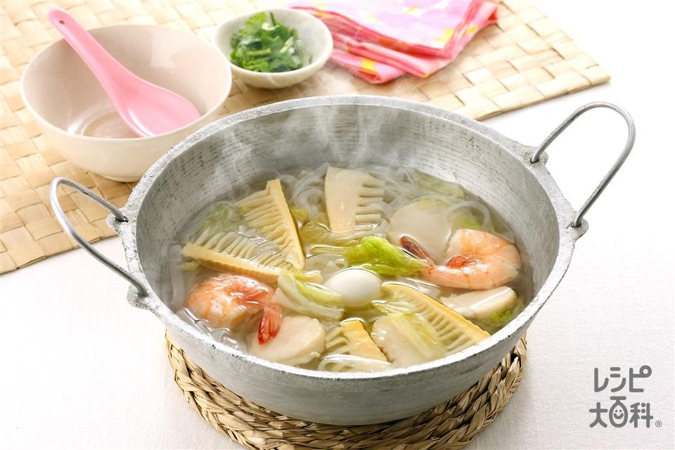 ベトナム具だくさん鍋(帆立貝柱+えびを使ったレシピ)