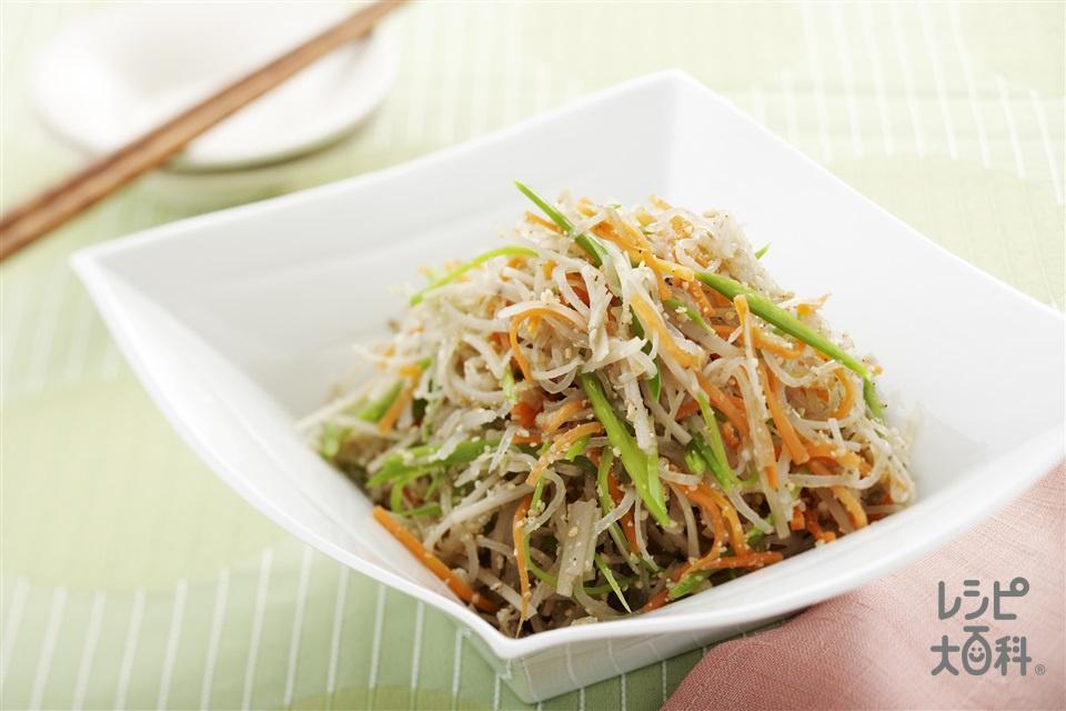 春野菜のごまあえ(うど+しらたきを使ったレシピ)