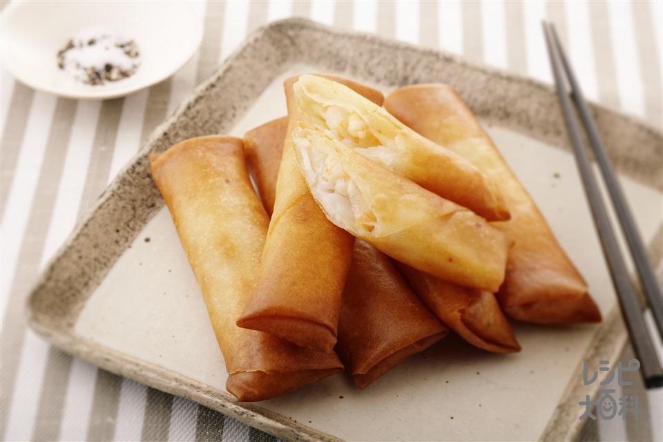 長芋の春巻き(長いも+春巻の皮を使ったレシピ)
