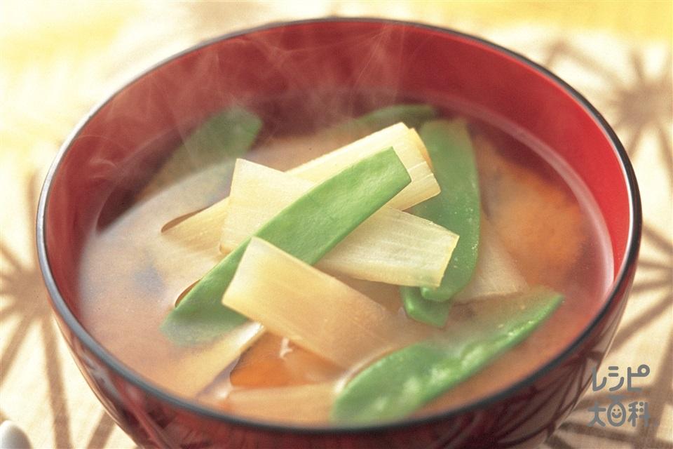 きぬさやとうどのみそ汁(絹さや+うどを使ったレシピ)