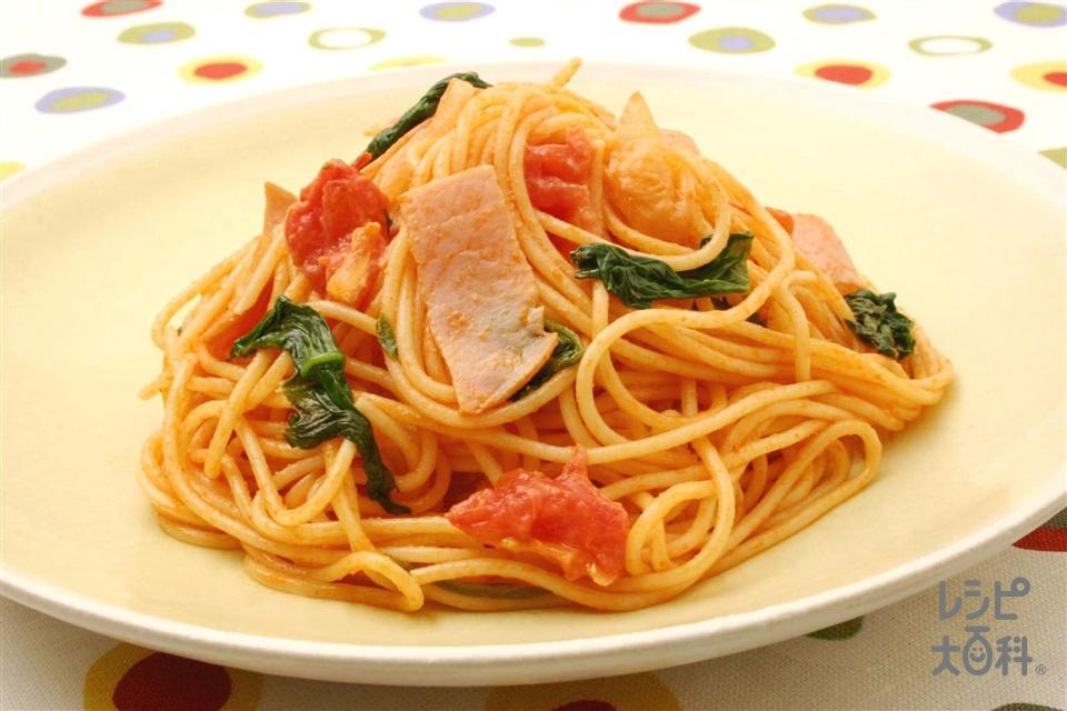 マヨネーズ入りナポリタン(スパゲッティ+トマトを使ったレシピ)