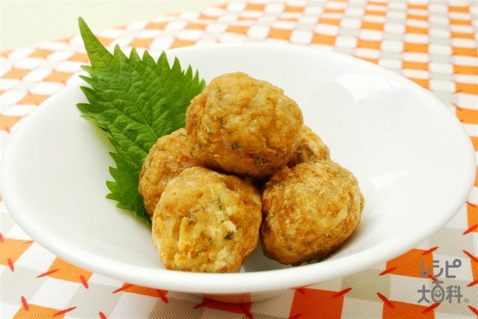 れんこんの揚げ団子(れんこん+鶏ひき肉を使ったレシピ)