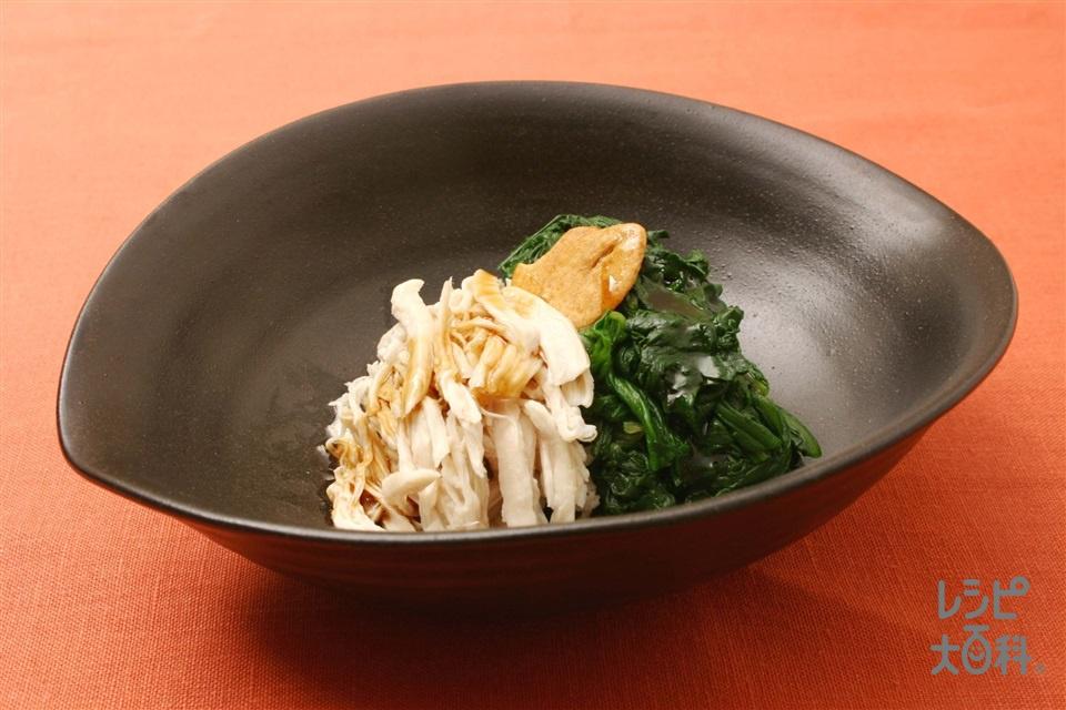 春菊と鶏ささ身の2種盛り(春菊+A「AJINOMOTO サラダ油」を使ったレシピ)