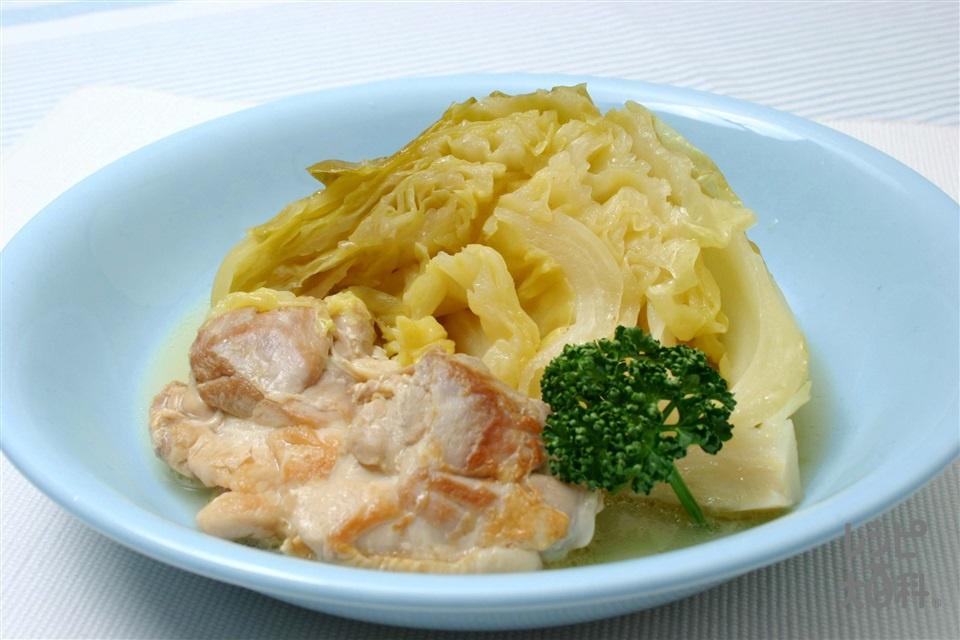 チキンとキャベツのレモン煮込み(鶏もも肉+キャベツを使ったレシピ)