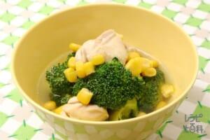 チキンとブロッコリーのコーン煮