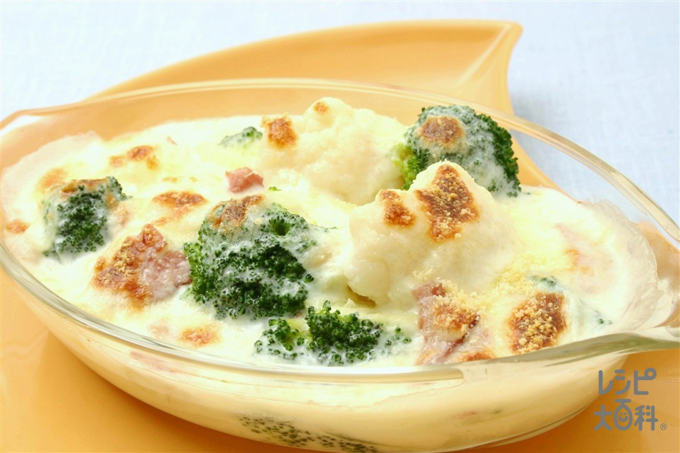 花野菜のグラタン(カリフラワー+牛乳を使ったレシピ)