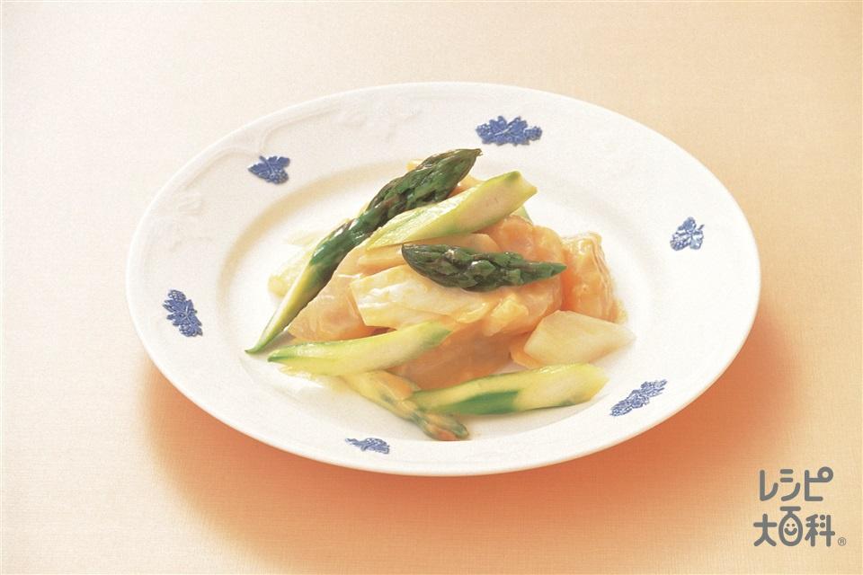 芥末帯子(帆立貝のマスタード風味)(帆立貝柱+グリーンアスパラガスを使ったレシピ)