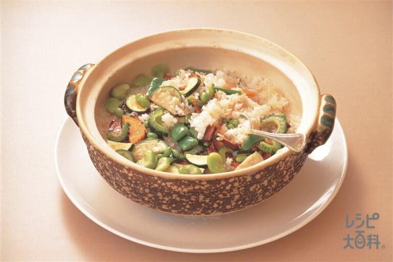 彩色醤肉飯(いろいろ野菜と特製しょうゆ肉の香りご飯)