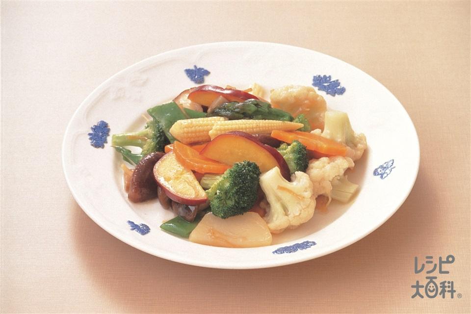 蔬炒素什景(いろいろ野菜の香り炒め)(しめじ+しいたけを使ったレシピ)