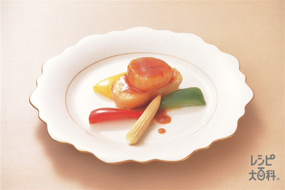 香煎鮮帯子(じゃがいもと帆立貝のピリ辛炒め)