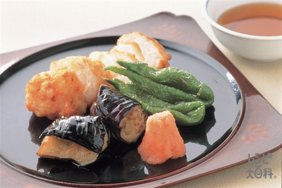 もち入り真薯(えび+切り餅を使ったレシピ)
