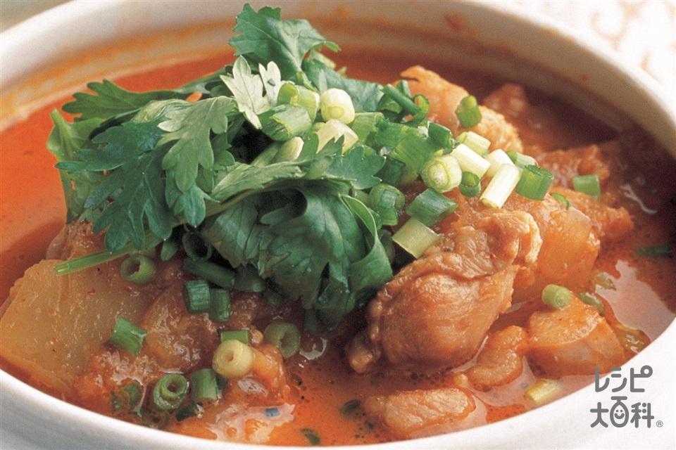 大根と鶏肉の煮込み(大根+鶏もも肉を使ったレシピ)