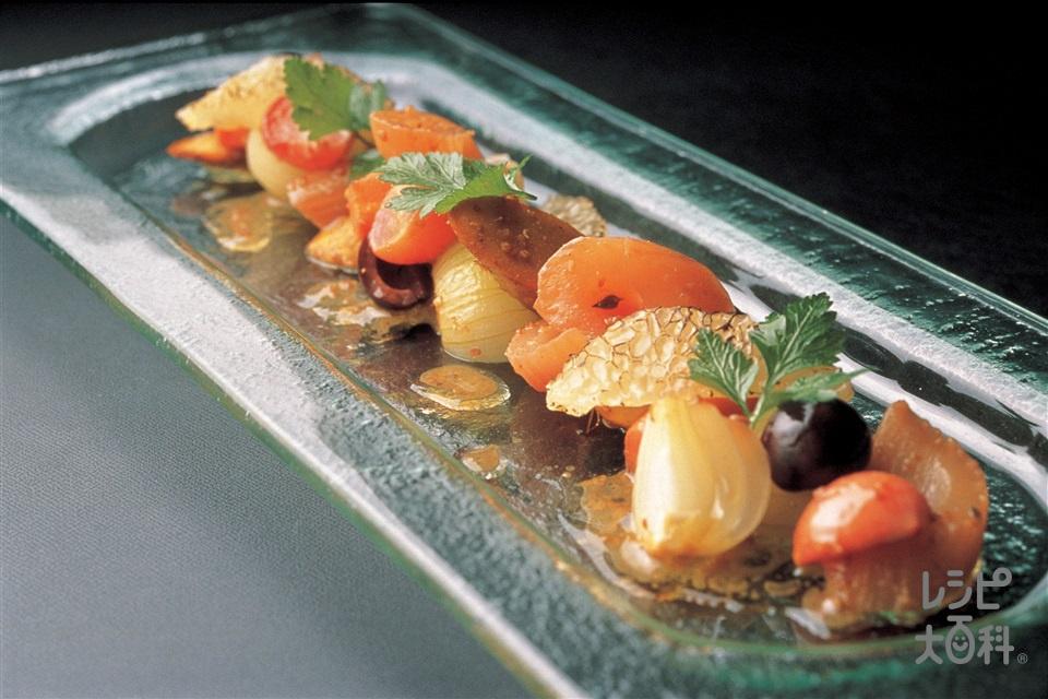 ギリシャ風野菜のマリネ(にんじん+グレープフルーツを使ったレシピ)