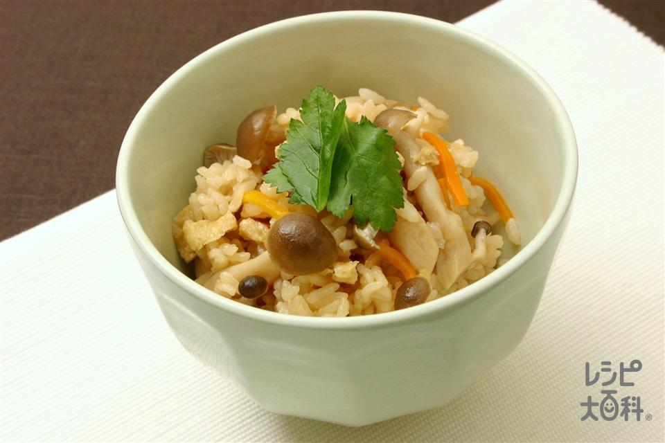 しめじご飯(米+しめじを使ったレシピ)