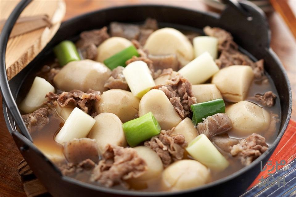 いも煮(里いも+牛薄切り肉を使ったレシピ)