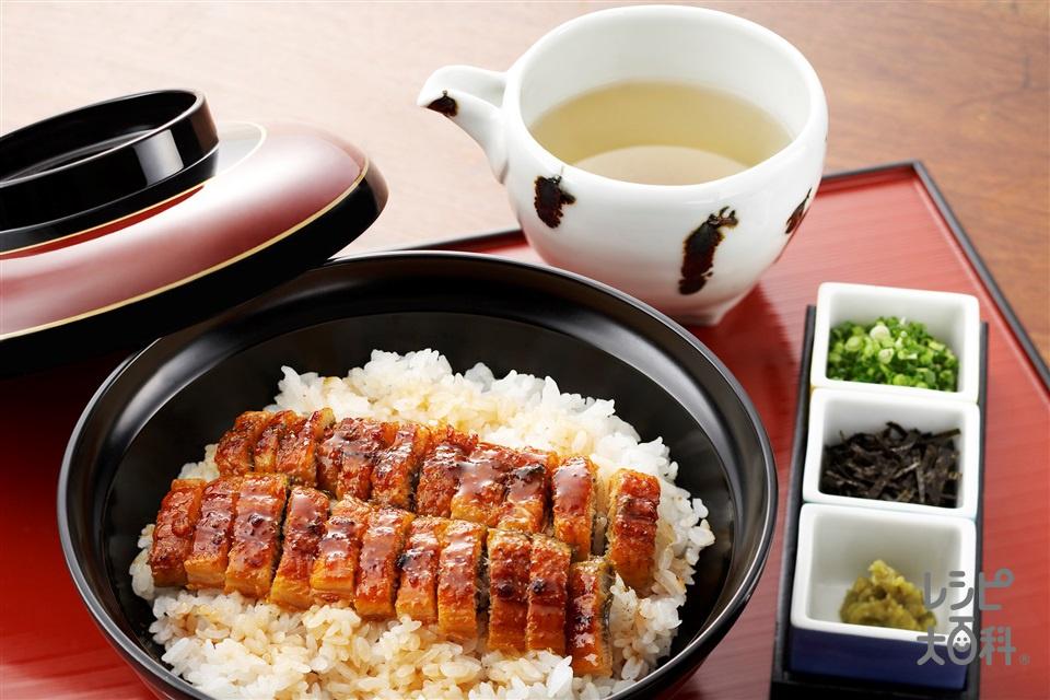 おひつまぶし(米+うなぎのかば焼きを使ったレシピ)