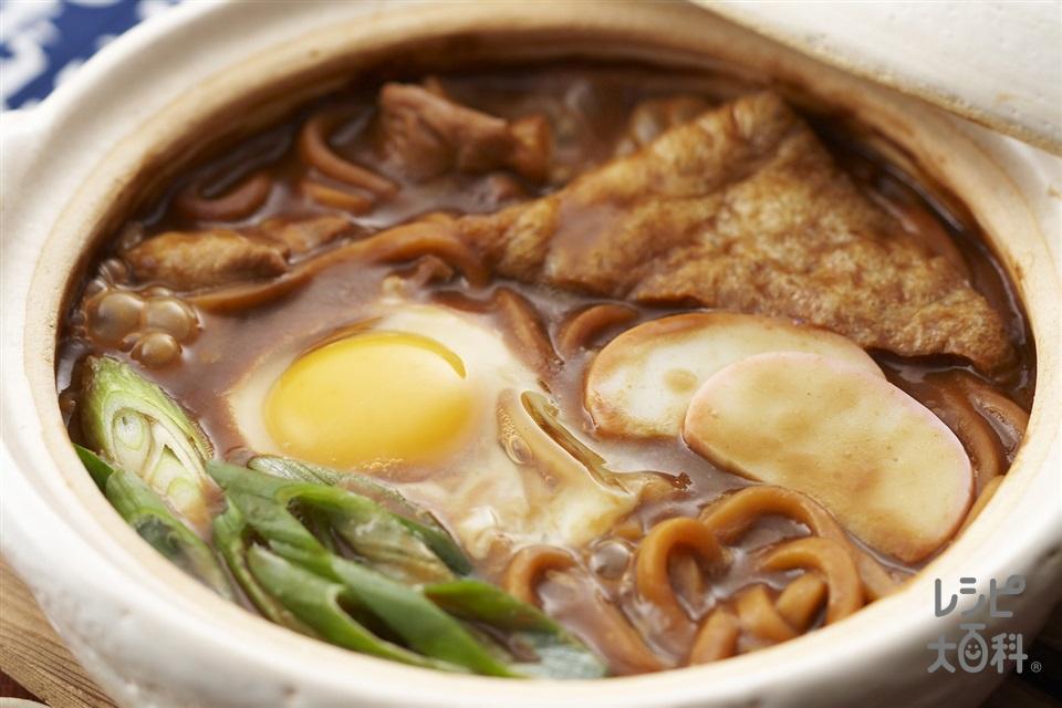 味噌煮込みうどん(生うどん+卵を使ったレシピ)