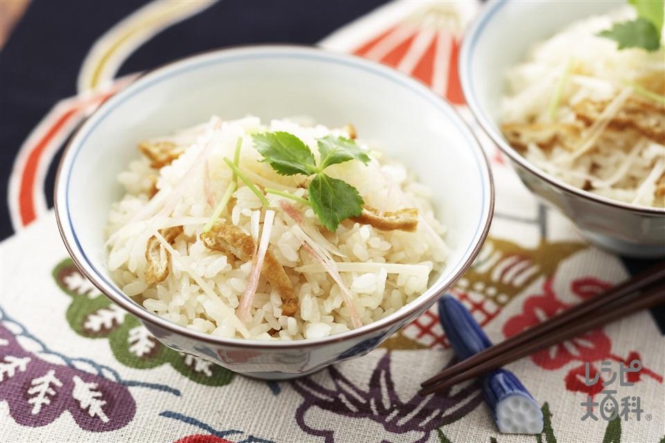 生姜御飯(米+油揚げを使ったレシピ)