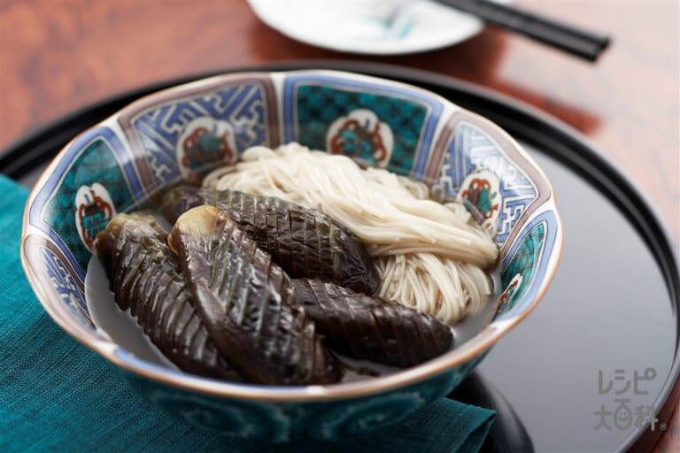 茄子と素麺の煮物