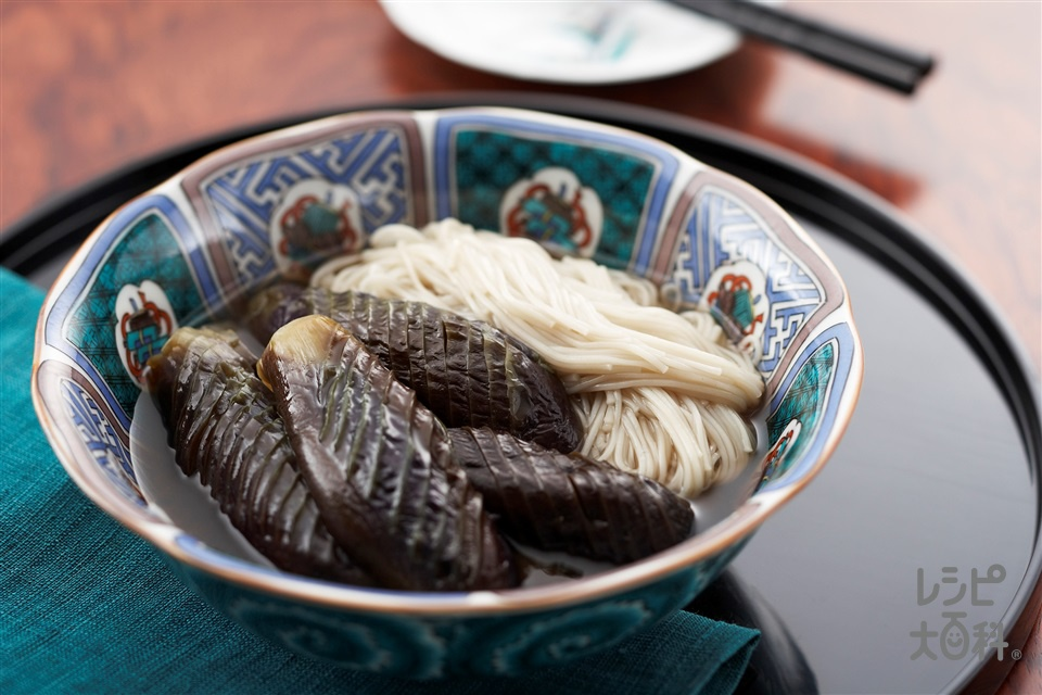 茄子と素麺の煮物(なす+そうめんを使ったレシピ)